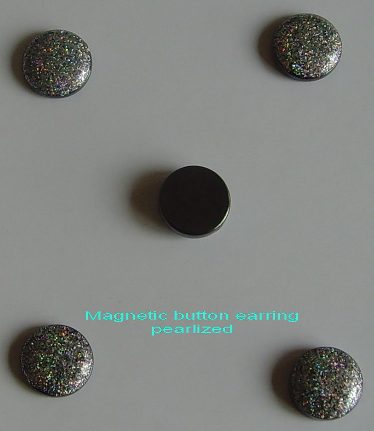 Magnetic Stone Button Earring